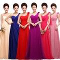 Largos Vestidos de Noche 2016 de La Moda Vestido de Fiesta de Un Hombro con flor Más El Tamaño de la Madre De la Novia Vestidos de Baile Libre gratis