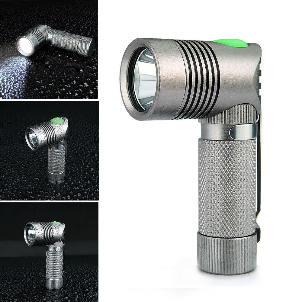 Unique Neue Design V4-A Mini Led Taschenlampe XP-G Led-rechtwinklig Lampe Taschenlampe 3 Modi Licht Für 14500 oder AA Batterie