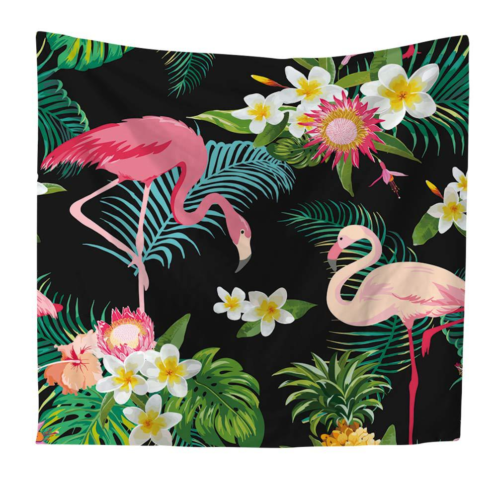 Tropical Flamingo Leaf&flower Pattern Wall Art Hanging Tapestry Sofa Chair Cover Fashion Beach Towel Home Decorative DoorCurtain