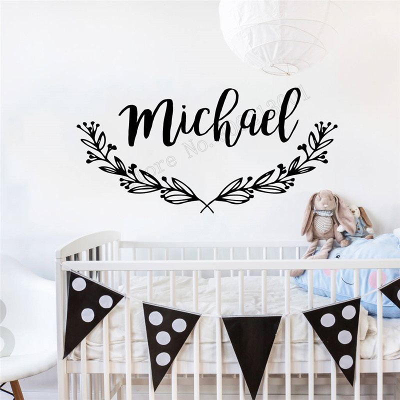 Art Wall Sticker Personalized Name Wall Decoration Nursery Decal ...