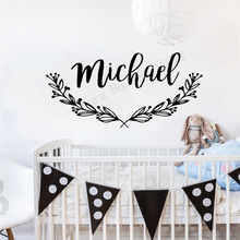 Art  Wall Sticker Personalized Name Decoration Nursery Decal Design Vinyl Removeable Poster Boho Mural LY209