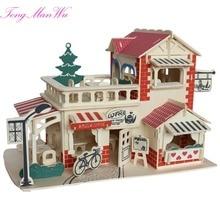3 D Diy Wood Building Birthday Gift 14 Assembling Model House