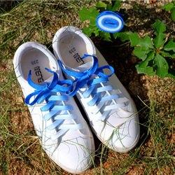 Flache Farbe Gradienten Ändern Farben Schnürsenkel Partei Camping Stiefel Schnürsenkel Leinwand Saiten Wachsenden sport schnürsenkel drop verschiffen