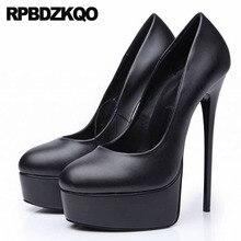 8c9a3cd309c564 Kobiety gothic pompy 12 44 13 45 wysokie obcasy 16 cm szpilki egzotyczne  tancerki ze skóry węża crossdresser okrągłe buty z palc.