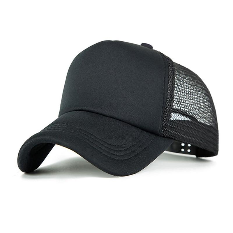 2019 New Fashion Baseball Cap Women Mesh Cap Men Adjustable Sport Hat Unisex Ultra-Thin Quick Drying Baseball Hat Chapeu Black