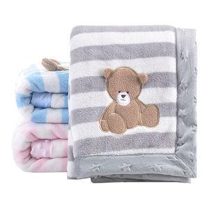 Image 2 - High Quality Baby Blanket Infant Bebe Thicken Flannel Swaddle Envelope Stroller Cartoon Blanket Newborn Baby Bedding Blankets