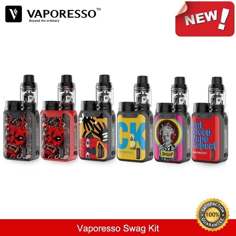 Vaporesso Swag Kit 80 W 18650 boîte Mod avec 3.5 ml NRG SE Vape réservoir GT bobine vaporisateur E-Cigarette Kit VS Smok Cigarette électronique