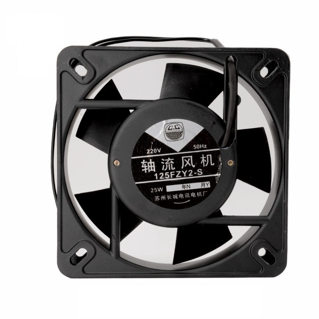 Small Axial Fan 125FZY2 S 220v 25W 0.16A Cabinet Cooling Fan Double Ball  Bearing