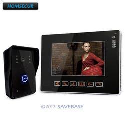 """HOMSECUR 9 """"ЖК дисплей сенсорный ключ видео телефон двери домашний охранный звонок домофон системы ИК видеокамера наружного наблюдения"""