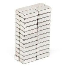 50 шт. N52 прямоугольный магнит 9,5*4,6*2,5 мм Блок редкоземельный Неодимовый Постоянный магнит Большой мощный акустический динамик