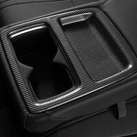 혼다 어코드 용 2018 2019 ABS 무광택 및 탄소 섬유 자동차 후방 워터 컵 프레임 커버 트림 카 스타일링 액세서리 1pcs