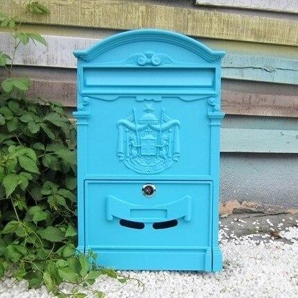 Европейский стиль Утюг Letter Box синий зеленый черный, белый, золотистый цвет ворота фа ...