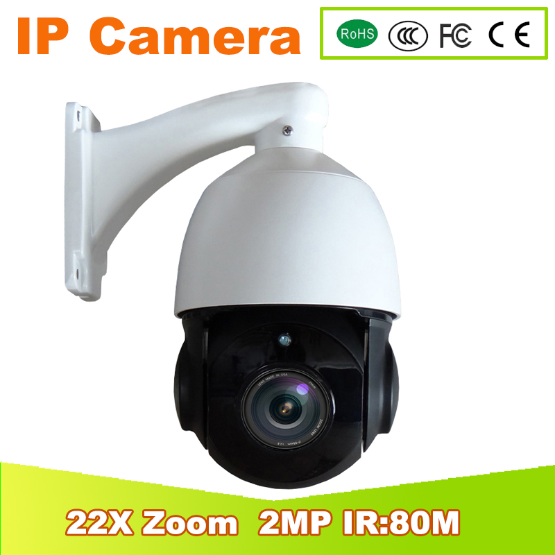 new 4'' mini 2.0MP PTZ HD 1080P Speed Dome IP PTZ Camera Outdoor 22x Zoom Waterproof 6PCS IR 80M H.264 Onvif CloudLens View