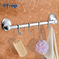 FRAP 1 Set Modern Style Restroom Tower Holder Wall Mount Four Hooks Bathroom Accessories Towel Hook