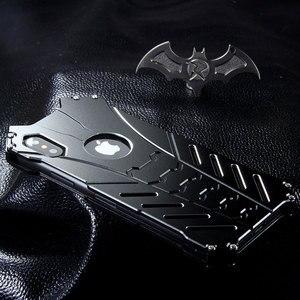 Image 2 - For Apple IPhone 11 PRO X XS MAX XR 5 Se 6 6s 7 8 Plus 12 pro Case Aluminum Metal Batman Armor Protective Shockproof Phone Cover