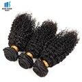 Tissage Pelo Rizado Afro rizado 3 Bundles Enrollamiento Apretado Brasileño Rizado Pelo Virginal rizado Cabello Humano Rizado Corto plancha de Pelo Beso moda