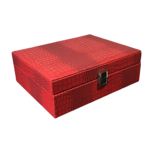 Image 5 - New Pattern Pu Leather Jewelry Box Princess Storage Box High Quality 4 Color Jewelry Casket Gift box For Woman