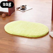 цена на AAG Anti-Skid Fluffy Shaggy Area Rug Home Room Carpet Floor Mats Bedroom Bathroom Floor Door Mat shag rugs Plush Sponge Oval