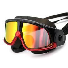 Мужские и женские очки для плавания, анти-туман, УФ-маска для плавания, водонепроницаемый чехол, удобные силиконовые очки для плавания с Большой рамкой