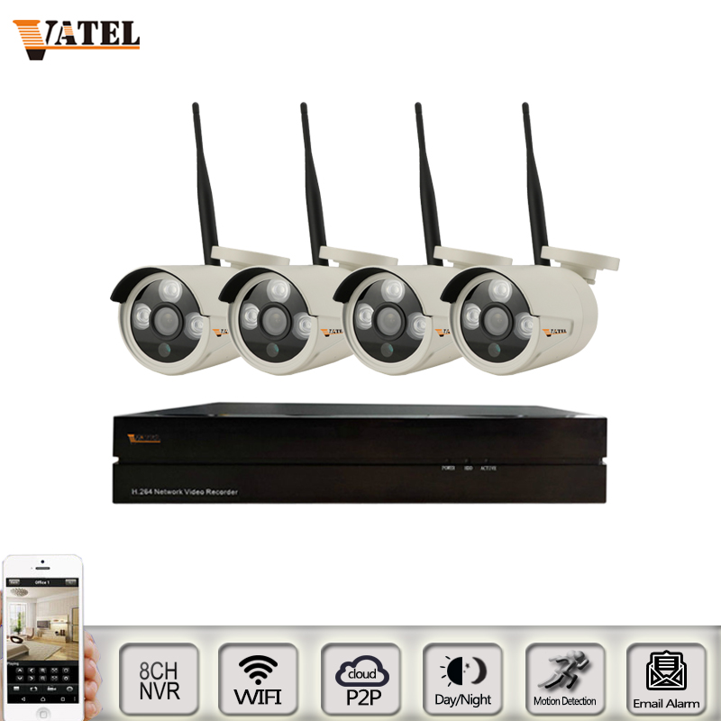 4pcs bullet wireless wifi ip camera 720P/960P/sony323 wifi system 8CH 1080P nvr kit CCTV system Waterproof security camera ONVIF