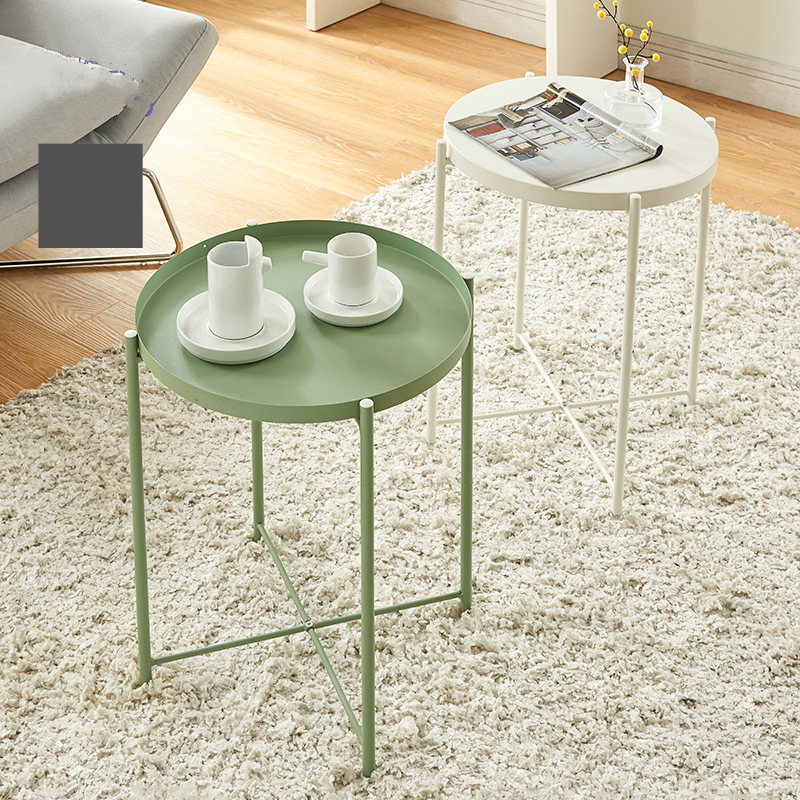 Simple Nordic Style Small Coffee Table Wrought Iron Round Tray Folding Side Tea In Tables From Furniture On Aliexpress Alibaba