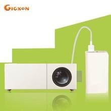 Gigxon-g19 + caliente led proyector de bolsillo portátil mini home theater proyector 320*240 soporte full hd