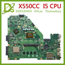 KEFU X550CC For ASUS X550CC X550CL Laptop motherboard Y581C mainboard REV2.0 with graphics card i5 cpu freeshipping 100% tested