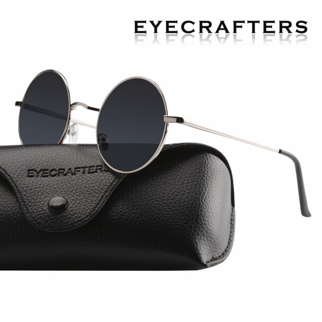 365ac6222b Men Small Vintage Retro John Lennon Glasses Women Driving Metal Eyewear New  Brand Designer Classic Polarized Round Sunglasses