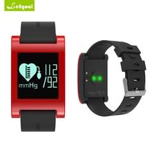 Leegoal DM68 умный Группа фитнес Водонепроницаемый крови Давление сердечного ритма сна активности сообщение напоминание трекер для андроид iOS