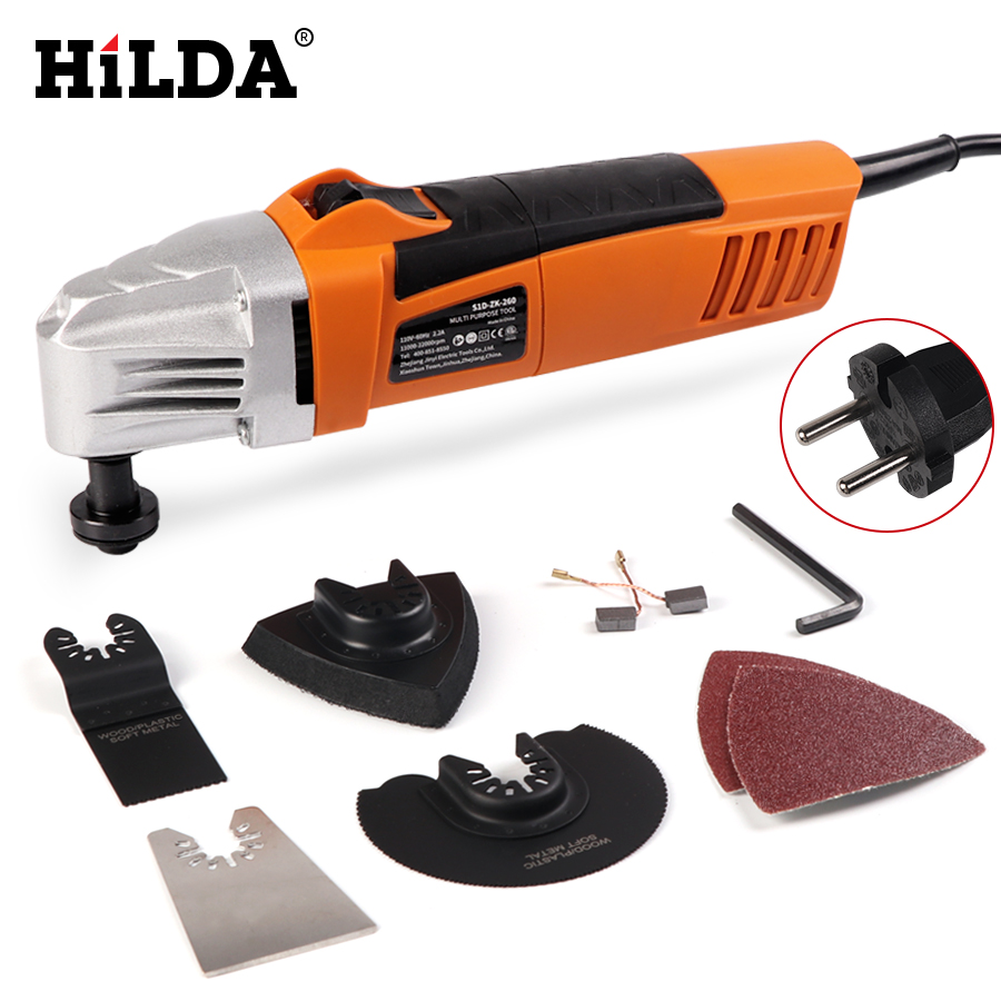 HILDA Renovator Multi Tools Electric Multifunction Oscillating Tool Kit Multi-Tool Power Tool Electric Trimmer Saw Accessories ...
