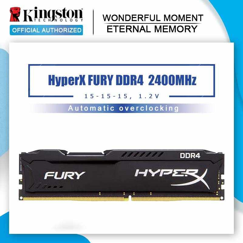 الأصلي كينغستون HyperX FURY 4 جيجابايت 8 جيجابايت 16 جيجابايت DDR4 2400 ميجا هرتز ذاكرة وصول عشوائي مكتبية ذاكرة CL15 DIMM 288 دبوس سطح المكتب الذاكرة الداخلية للألعاب