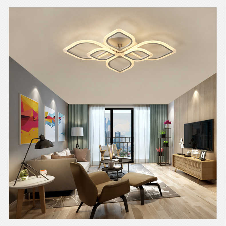 Modern Chandeliers Led to Living Room Bedroom Dining Room Acrylic Ceiling Lamp Chandelier Home Indoor Lighting