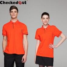 Restaurant Hotel Kithchen Waiter Waitress Polo Shirt More Color Snap Button