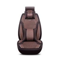 2018 New Flax Universal Car Seat covers 5 auto Cushion Fit lifan 320 520 620 720 smily solano x50 x60 jac j3 j6 s2