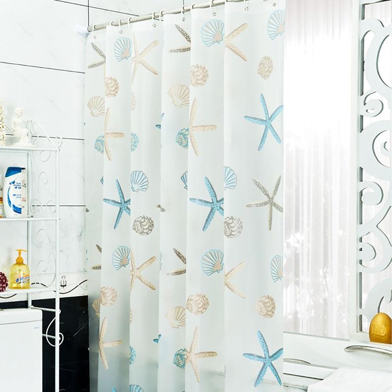 New Bathroom Waterproof Mildew Proof Shower Curtain with 12pcs Curtain Hooks Rings 180cm*200cm
