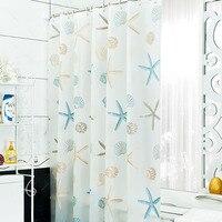 Novo banheiro impermeável à prova de mofo cortina de chuveiro com 12 pçs cortina ganchos anéis 180cm * 200cm|shower curtain|bathroom waterproof|curtains shower curtains -