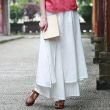 2016 тайский стиль хлопок белье белые женские брюки широкую ногу брюки свободные эластичный пояс pantalon jambes крупнейшая pantalones mujer