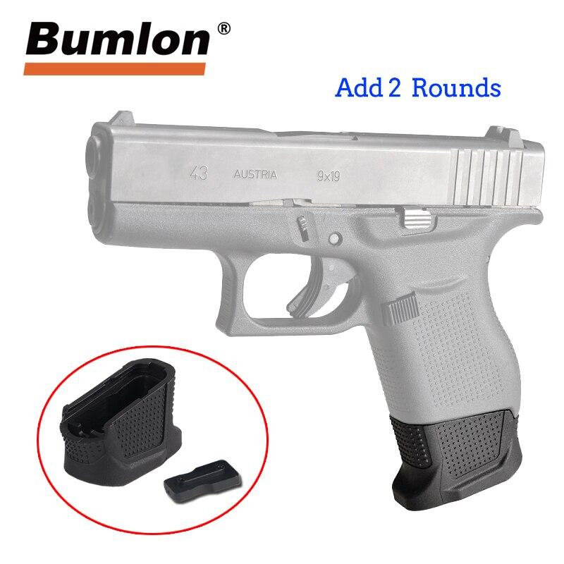 Glock 43 Verbesserte Magazin Basis Platte Plus Erweiterung für 9mm 6rd pistole + 2-Runde G43 Erweitert Pistole gun Zubehör HT37-0085