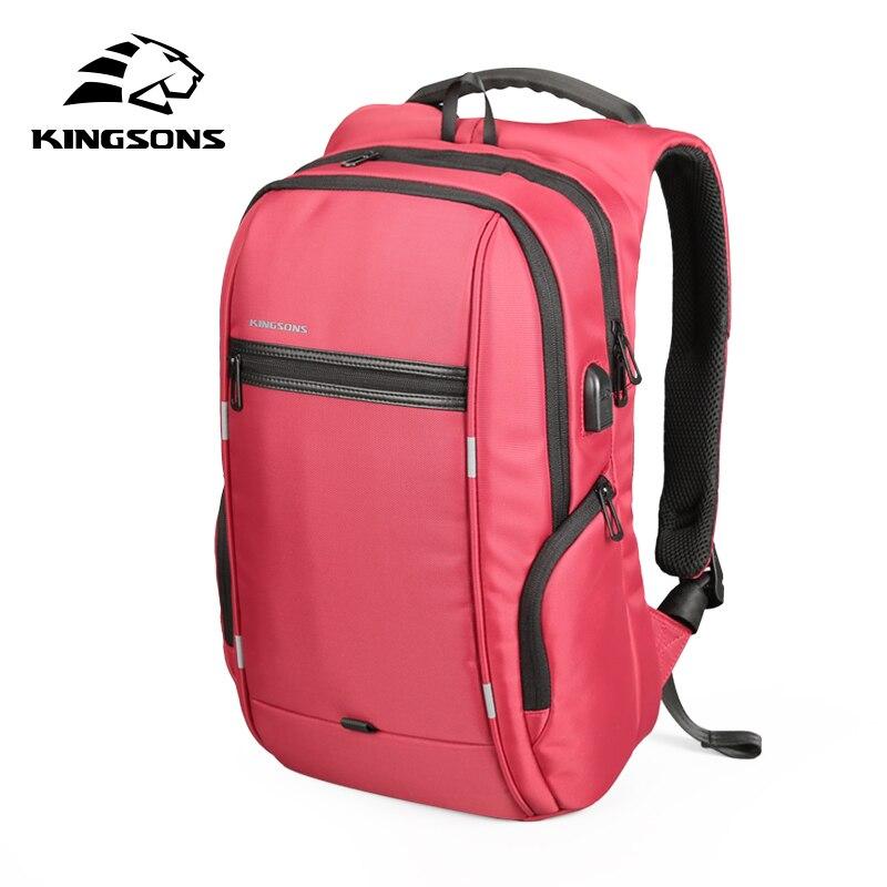 Kingsons 15″17″  Laptop Backpack External USB Charge Computer Backpacks Anti-theft Waterproof Bags for Men Women