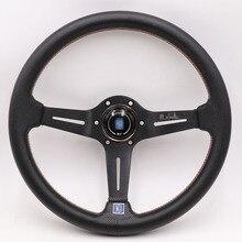 Алюминий ND 14 дюймов из натуральной кожи руль Дрифт спортивный руль