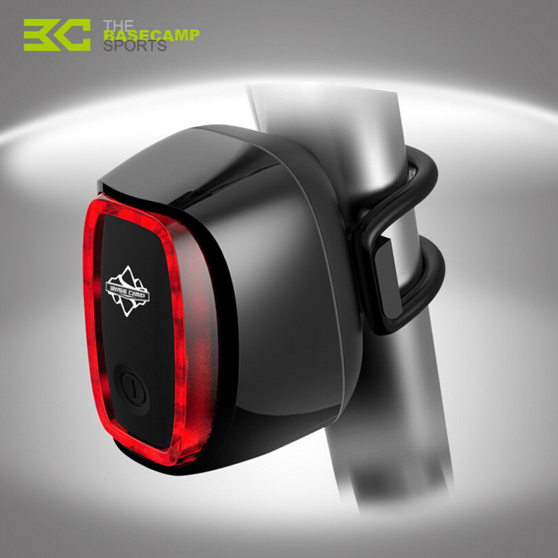 BASECAMP Bike Light USB Rechargeable LED Waterproof Lights MTB Mountian Road Bicycle Back Taillights Lamp 7 Mode Change M5002