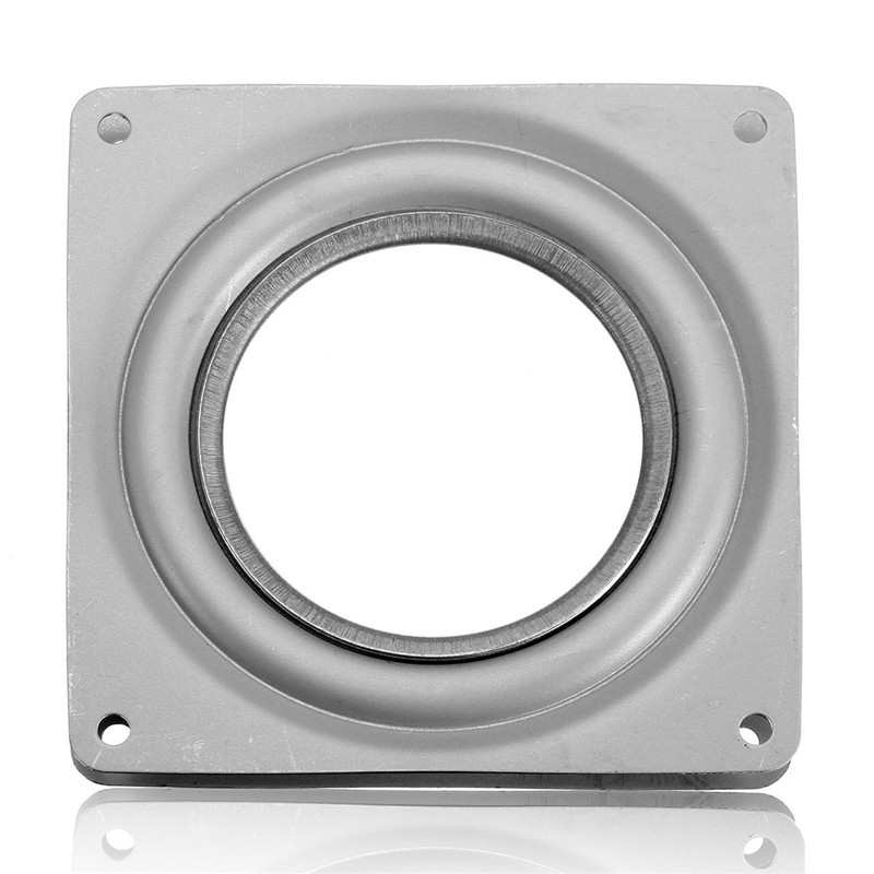 Lower Price with 3 Size Heavy Metal Bearing Rotating Swivel-turntable Plate For Tv Rack Desk Table Smoothly Square/round For Corner Cabinets Fine Workmanship Furniture Frames Furniture Parts