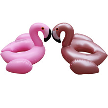 Inflatable Ride-ons Flamingo unicorn Water Toy Pool Rafts For Children Swim Leanring Tool Floating Kids Swim Pool Rafts Rings