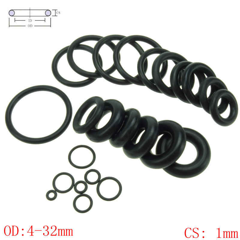 CS 1mm OD4-32mm NBR Rubber O Ring O-Ring Oil Sealing Gasket Automobile Sealing