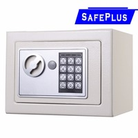 NEW Small White Digital Electronic Safe Box Keypad Lock Home Office Hotel Gun Free Shipping HW49694WH