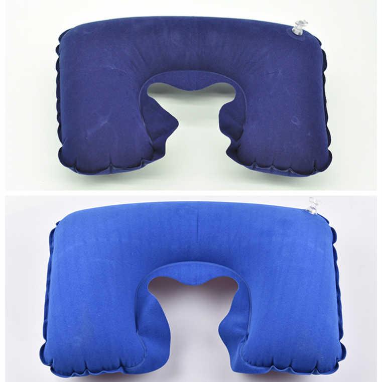 1 pc travesseiro inflável almofada de ar pescoço resto em forma de u compacto avião vôo viagem travesseiros têxteis para casa transporte da gota 26.5cm x 44cm