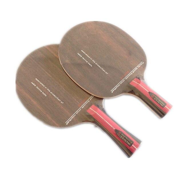 50a550e3e Raquete De tênis de Mesa genuine ébano Stuor 7 camadas de puro piso de  madeira de três camadas 2 camadas de ébano Aus pingpong lâmina