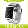 Super slim milanese venda de reloj 22mm 24mm pulsera correa de la venda de acero inoxidable de 38mm 42mm iwatch apple watch sport edition