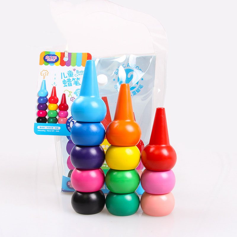 Non-toxic childrens safety color Crayon baby 3D finger art Supplies kindergarten Easy to erase educational kid stationery