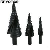 4 32MM 3PCS HSS Cobalt Step Drills With Nitrogen High Speed Steel Spiral For Metal Cone